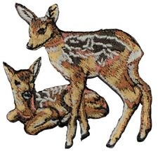 Two Deer Fawns Applique Patch (Iron on)