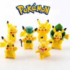 6pcs Pokemon GO Pikachu Action Figures Set Kid Figurines Cake Topper Decor Toy