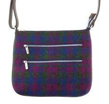 Ladies Authentic Harris Tweed Teviot Multi-Zip Bag Heather Check LB1229 COL 54