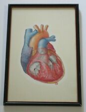 TED BLOODHART PAINTING POP ART HUMAN SCIENCE MEDICAL SURGICAL REALISM HEART OLD