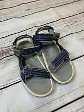 TEVA Men's Walking Sandals Size 8M White And Blue - Used