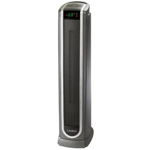 Lasko 5572 Portable Electric 1500W Room Oscillating Ceramic Tower Space Heater