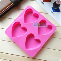 Silicone Heart Soap Mould Ice Cube Chocolate Cake Pudding Mold Baking Tools DIY