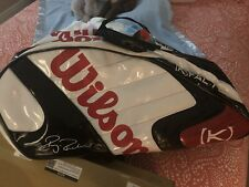 Wilson Kfactor Wimbledon Limited Edition Bag(actually Signed By Federer)