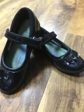 Clarks Girls Black School Shoes Size 10F