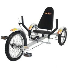 "Mobo Triton 16"" 3 wheels Cruiser Recumbent Trike Silver ( Youth)"