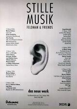 STILLE MUSIK -  FELDMANN & FRIENDS - 1996 - Konzertplakat - John Cage