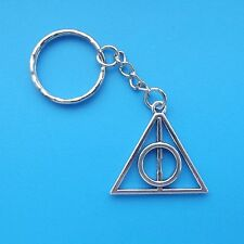 1 x Keyring Deathly Hallows Harry Potter Tibetan Silver Key Chain
