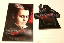 Sweeney Todd Movie Promo Postcard and Large Sticker