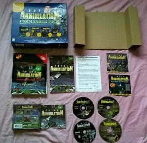 TOTAL ANNIHILATION COMMANDER PACK - PC GAME - FAST POST - ORIGINAL RARE BIG BOX