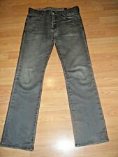 GUESS LINCOLN SLIM STRAIGHT FADED BLACK STRETCH DK DENIM JEANS SIZE 31