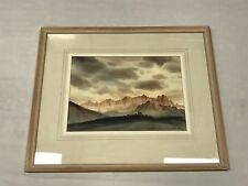 """Original Watercolour Painting """"Dolomites, Italy"""" by George Mansell Signed"""