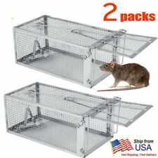 New listing 2pack Live Humane Cage Trap for Rodent Rat Mice Squirrel Chipmunk Animal Catcher