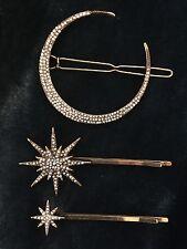 Constelación Luna y Estrellas Bobby Pin Set/hairslides (Anthropologie Estilo)