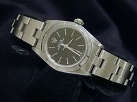 Ladies Rolex Stainless Steel Oyster Perpetual No-Date Watch w/ Black Dial 76030