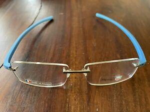 Tag Heuer 3942 010 Reflex New Rimless Blue Titanium Eyeglasses Only 60-15-140