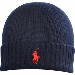 Polo Ralph Lauren Merino Wool Beanie Hat, Piper Navy One Size