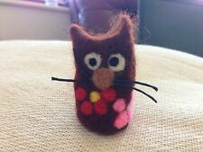 Handmade unique Needle Felted Sweet Little Cat - OOAK