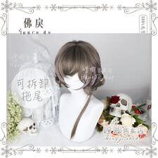 Tender Men Gothic Wig Aoki Purple Mixed Gradient Curly Hair Harajuku Short Wig