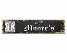 SP0453 The MOORE'S Family name Plate Sign Bar Store Cafe Home Chic Decor