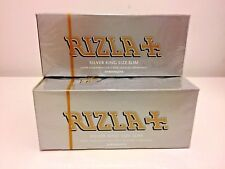 50 SILVER KING SIZE SLIM RIZLA  CIGARETTE SMOKING ROLLING PAPERS ORIGINAL