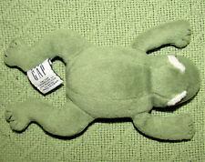 "BABY GAP TAD 7"" TADPOLE FROG STUFFED ANIMAL PLUSH INFANT CRIB TOY LOVEY GREEN"