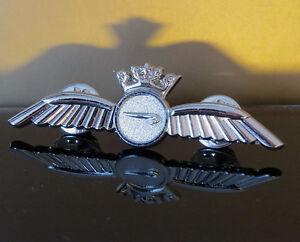 British Airways Crew BA PILOT Wings Pin Insignia silver Badge 60mm replica WING