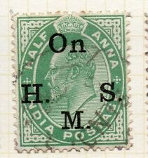 India 1902-09 Service Early Issue Fine Used 1/2a. Optd 062282