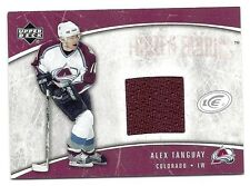Alex Tanguay, 2005-06 Upper Deck Ice Frozen Fabrics card, # FF-AT, Colorado