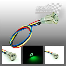 12v GREEN LED ON-OFF STAINLESS STEEL PUSH BUTTON LIGHT SWITCH PROJECT