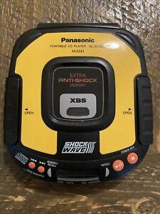 Vtg Panasonic Shock Wave portable cd player SL-SW405 extra anti-shock