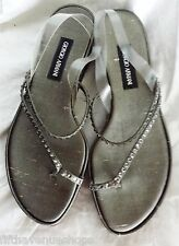 NEW Giorgio Armani Sandals 5.5 Shoes 36 Platinum Rhinestones Women's Italy 5-1/2