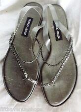 NEW Giorgio Armani Sandals 5.5 Shoes Platinum Rhinestones 36 Women's Italy 5-1/2