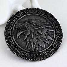 Wolf Head Brooch Cool Round Animal Badge Brooches Men Garment Accessories 2017