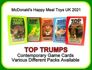 McDonald's Happy Meal Toys 2021 UK Top Trumps Game Cards Various different packs