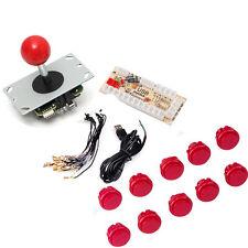 Red Arcade MAME DIY Kits USB Encoder Board 5 Pin PC Joystick w 10 Push Buttons