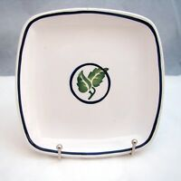 """Dansk BASIL/DAN130 (Green leaves) Square Bread & Butter Plate(s) 6 1/8"""" NEW"""