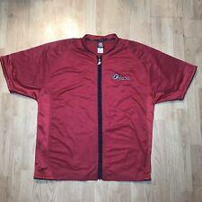 VTG Reebok Allen Iverson Answer Mens Full Zip Up Red Warm Up XXL Shooting Shirt