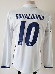 Real Madrid 2016 - 2017 Home football Adidas long sleeve shirt #10 Ronaldinho