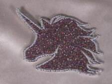 Embroidered Retro 80s Rainbow Glitter Sparkle Unicorn Applique Patch Iron On Sew
