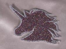 Embroidered Retro 80s Rainbow Glitter Sparkle Unicorn Applique Patch Iron On Sew