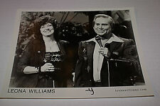 LEONA WILLIAMS & GEORGE JONES RARE UNEDITED NASHVILLE NETWORK 8X10  PROMO PIC