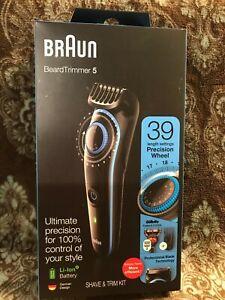 NEW Braun Beard Trimmer 5 - 39 Length Settings Shave & Trim Kit BT5240 Black