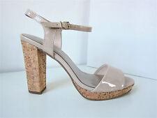Tamaris Lack Riemchen Pumps nude beige Gr. 40 Sandale Sandalette Shell Patent