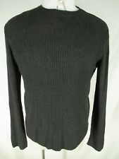 Armani Mani Mens Charcoal Cable Knit Rayon Sweater L