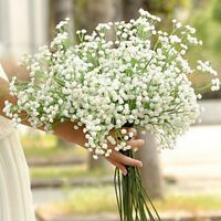 2PCS Artificial Gypsophila Floral Silk Flower Wedding Bouquet Home Party Decor