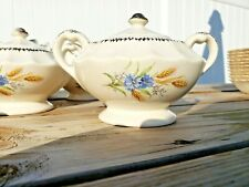 AMERICAN LIMOGES WHEATFIELD LIDDED SUGAR BOWL ONLY