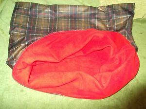 HANDMADE DOG SNUGGLE SACK  WATER PROOF OUTER 28 inch x 28 inch
