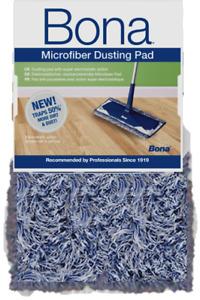 1 x Bona Microfibre Dusting Cleaning Mop Pad Refill Clean Wood Stone Tile Floors