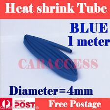 Heat Shrink tube Heatshrink tubing Sleeving blue Dia=4mm 1meter  AU STOCK
